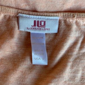 Peach halter top with hanging bead accents by JLO